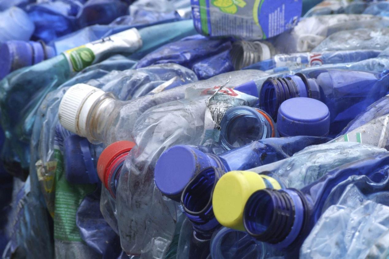 垃圾处理场内的废弃塑料瓶